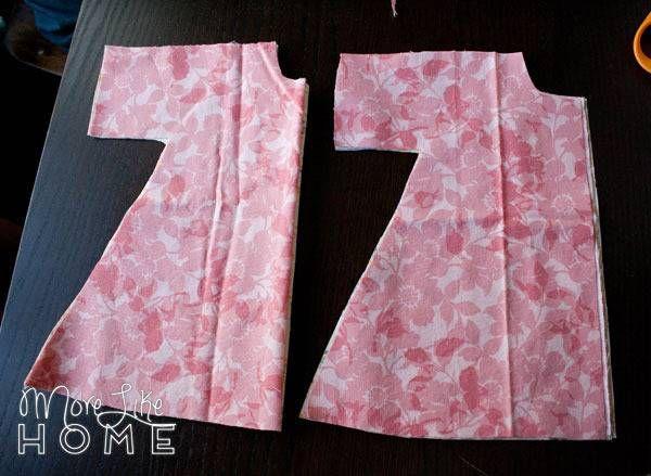 Long Sleeve Rag Doll Dress #dolldresspatterns