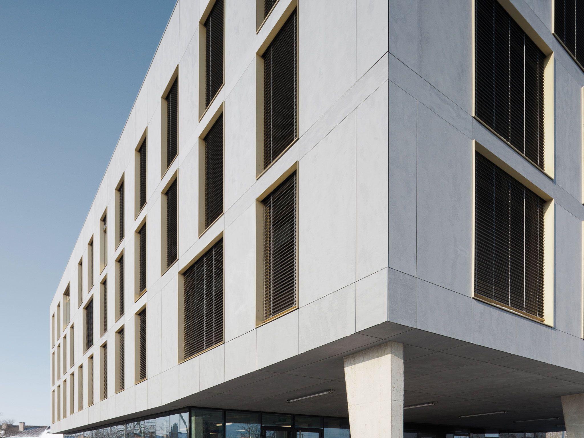 Concrete Building Facade : Equitone facade panels belgium hasselt office