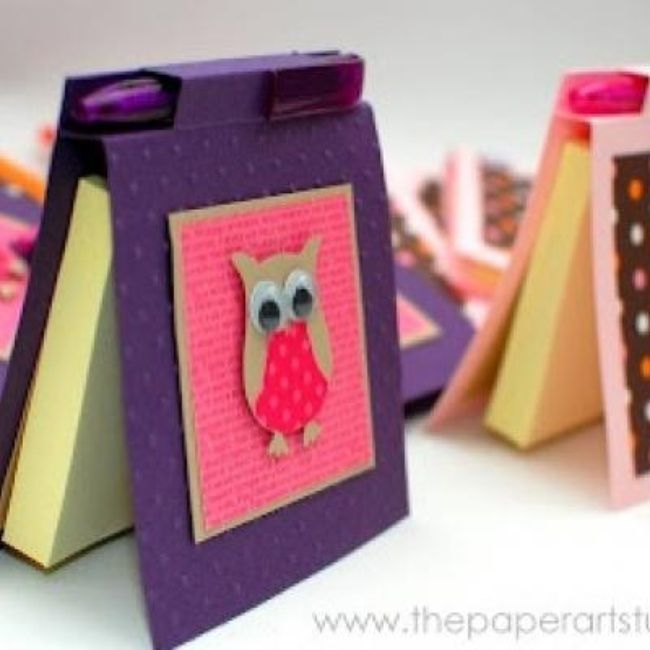 Diy Post It Notes Holder Paper Craft Paper Crafts Crafts Craft Show Ideas
