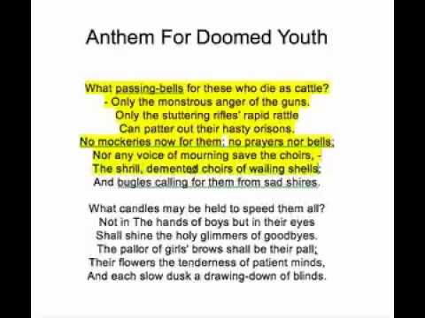 sean bean reads wilfred owen s anthem for doomed youth  sean bean reads wilfred owen s anthem for doomed youth