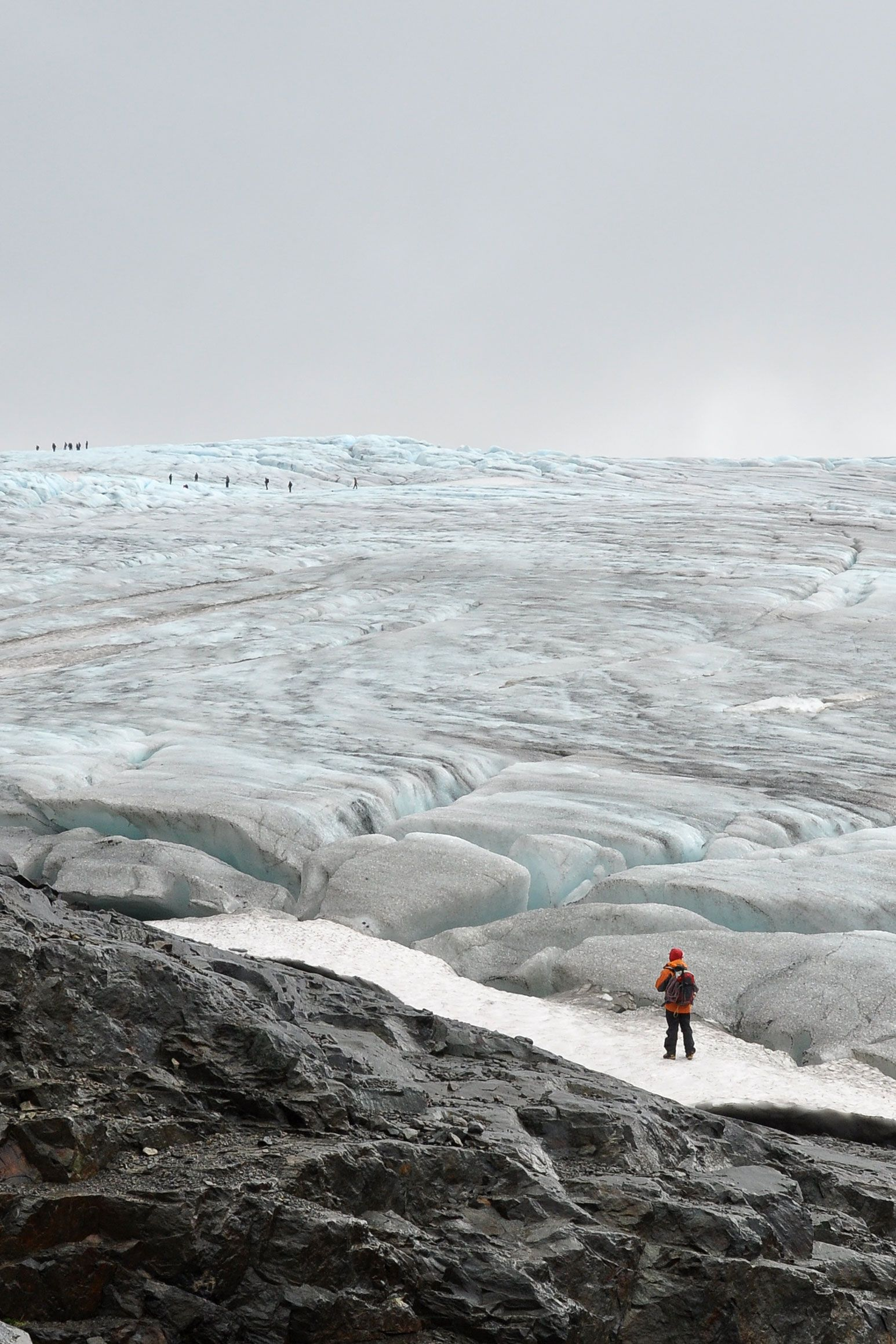 One clear rule: you never walk alone on a glacier.