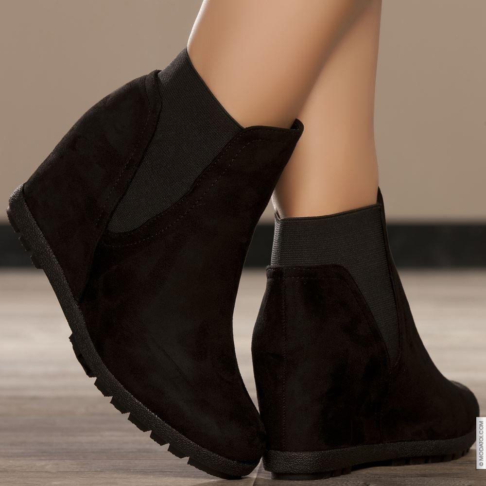 c231745a771dc3 Bottines compensées noir taille 38, achat en ligne Bottines femme sur  MODATOI