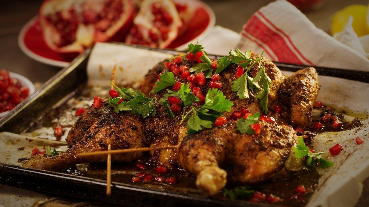 sumac spiced butterfly chicken
