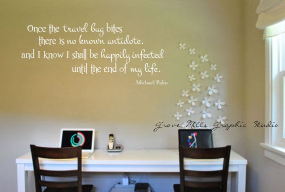 Home Wall Decal Travel Wall Art Travel Wall Decal Travel Bug