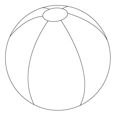 Coloring And Drawing Beach Ball Crafts Ball Drawing Beach Coloring Pages