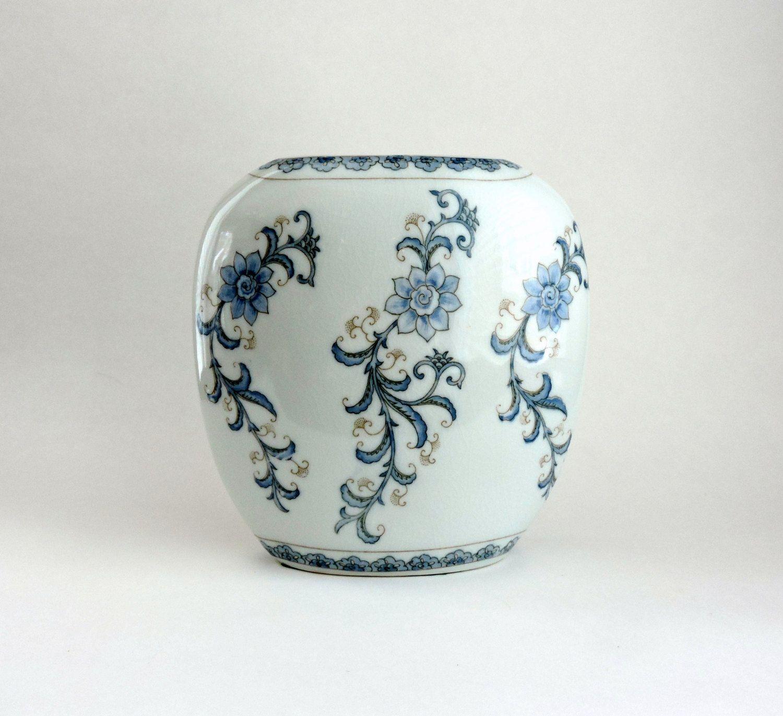 Vintage ceramic vase andrea by sadek vase or urn white vase with vintage ceramic vase andrea by sadek vase or urn white vase with blue flowers floridaeventfo Choice Image