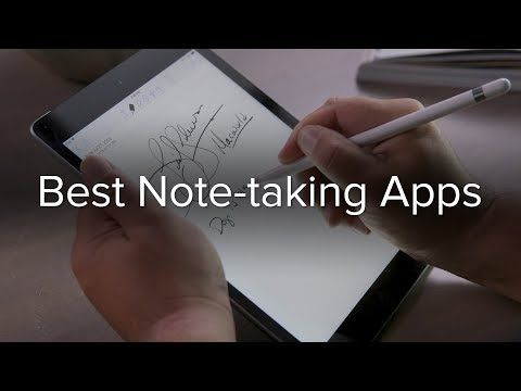 The best notetaking apps for the iPad and Apple Pencil