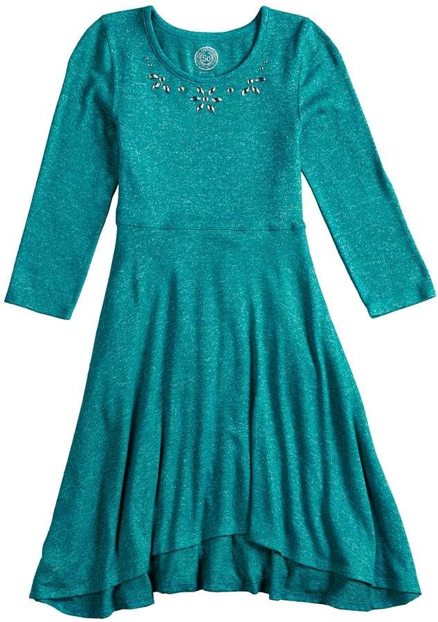 1aaac3ce1f35 So Girls 7-16 and Plus Size SO Sequin Fit   Flare Skater Dress in ...