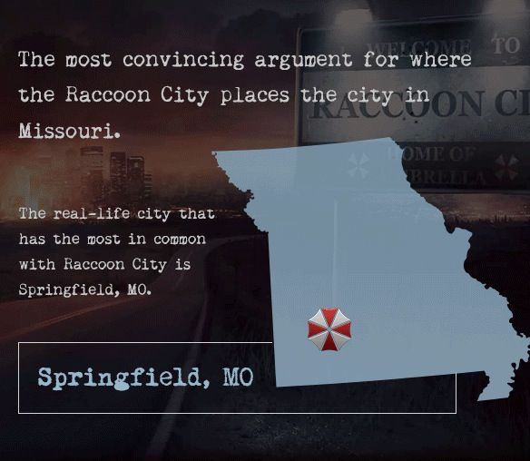 Resident Evil Raccoon City Is Springfield Missouri Resident Evil Resident Evil Raccoon City Evil