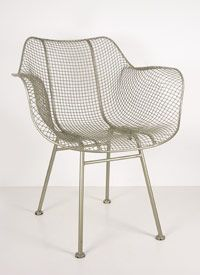 wire mesh woven arm chair from C.S> Post & Co.