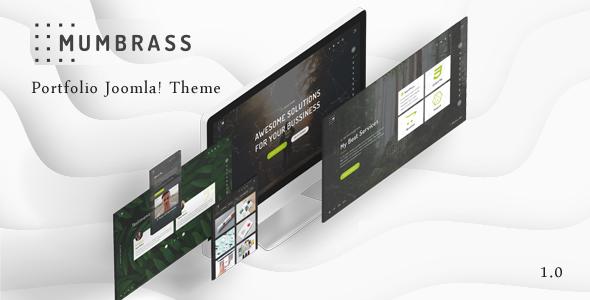 Review Download Mumbrass Full Screen Personal Portfolio