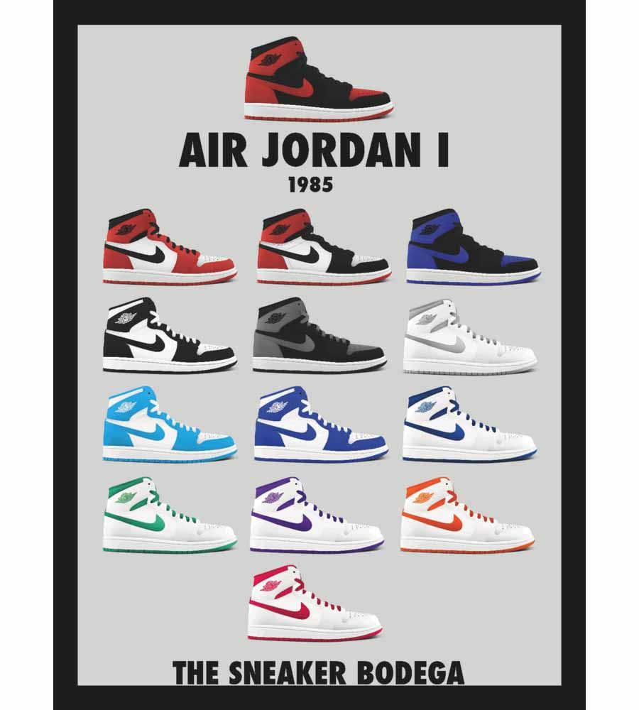 air jordan sneaker collection poster
