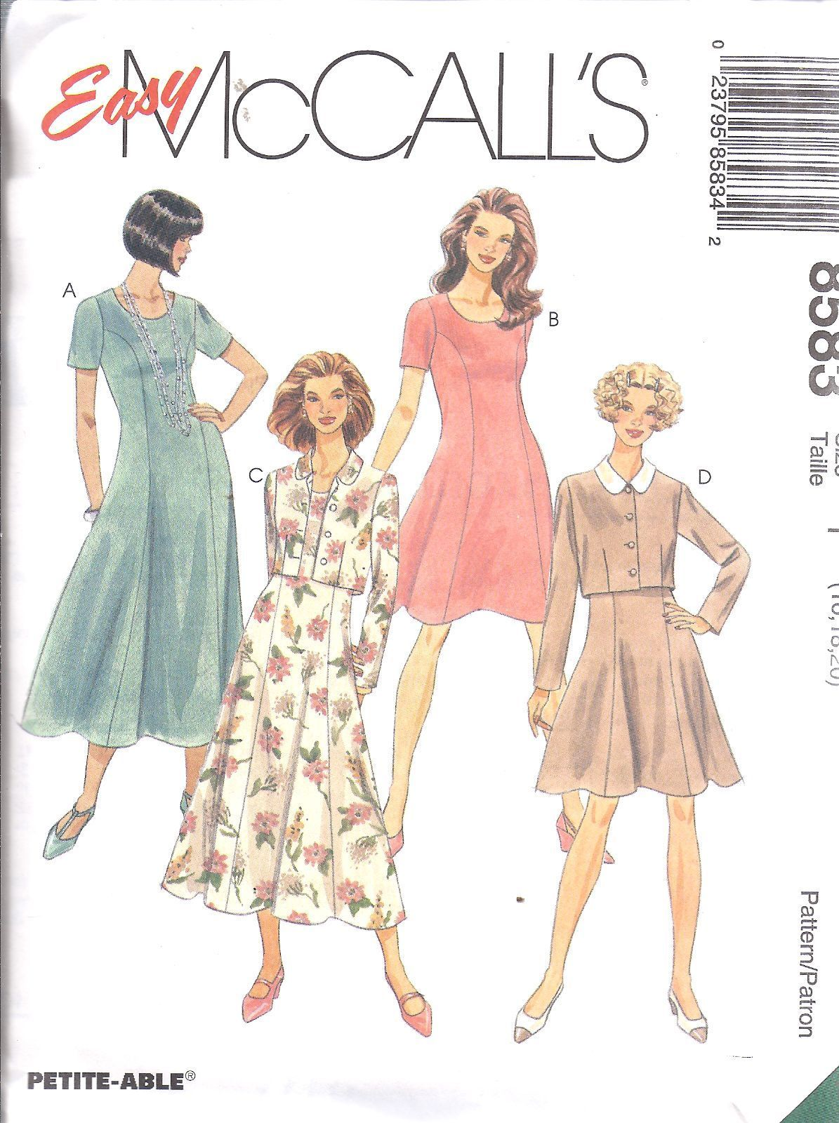518125c3e26caa $4.89 - 8583 Uncut Mccalls Sewing Pattern Vintage Misses Unlined Jacket  Dress #ebay #Home & Garden