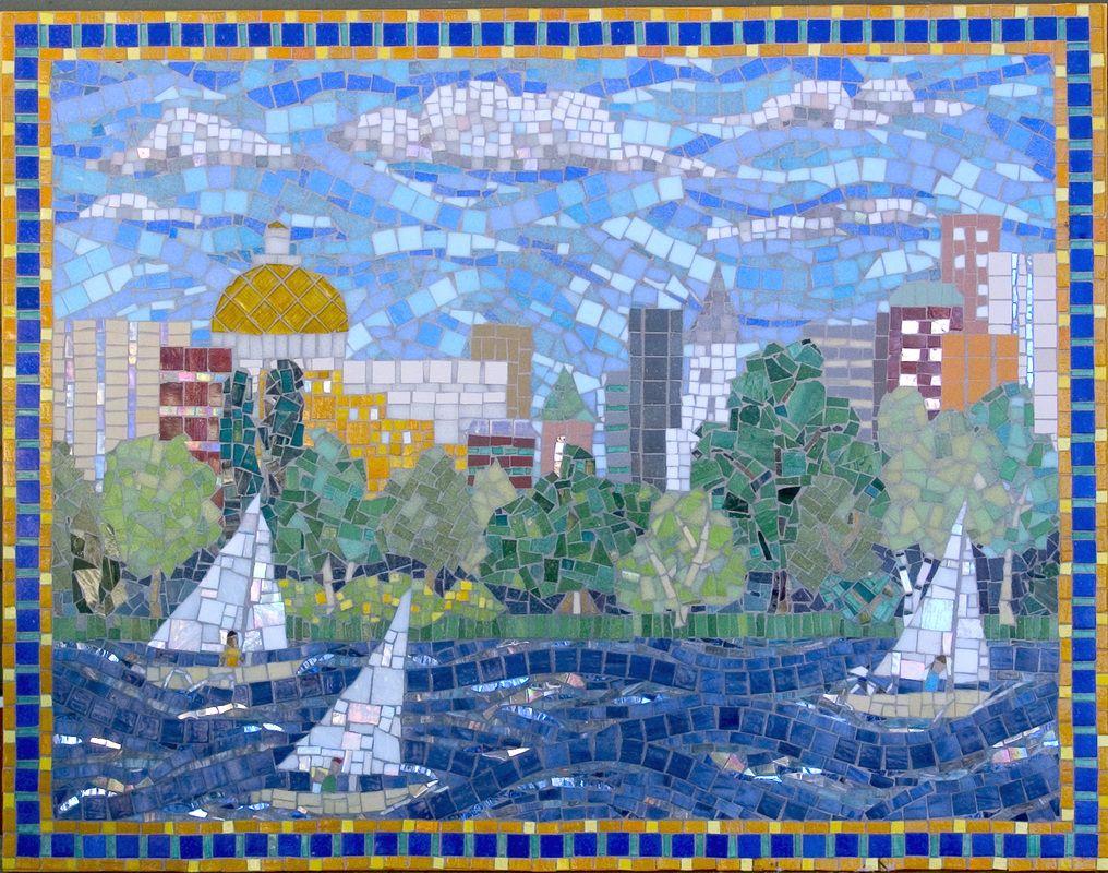 Hospital mosaics by mosaic artist cynthia fisher