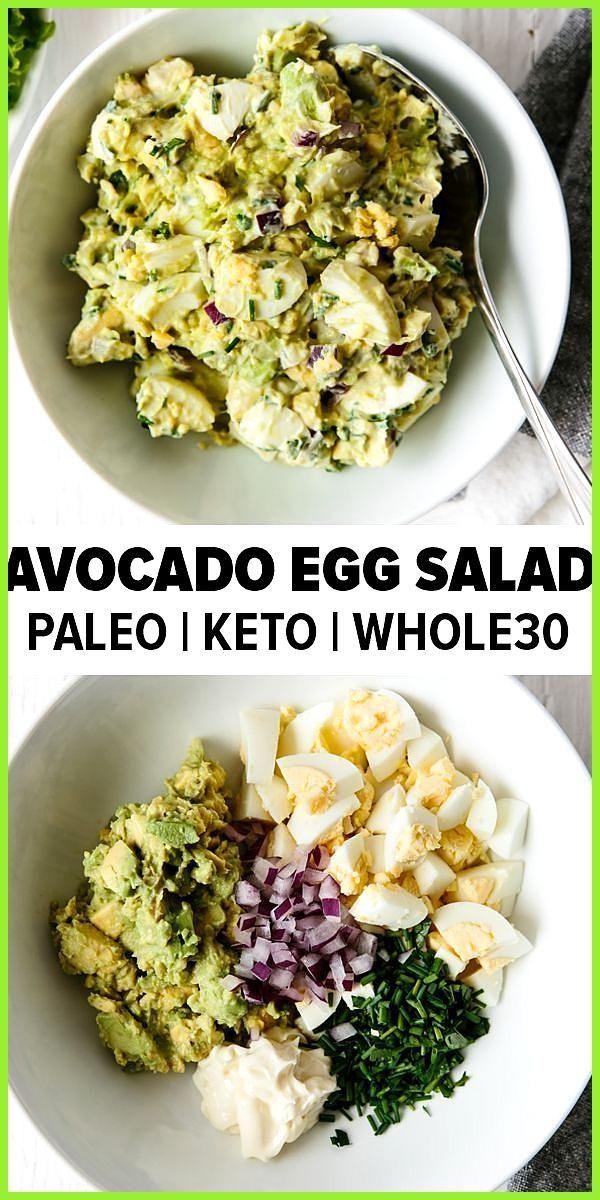 Dieser Avocado-Eiersalat nimmt Ihr klassisches Eiersalat-Rezept und fügt ges #AvocadoEiersalat #Dies...