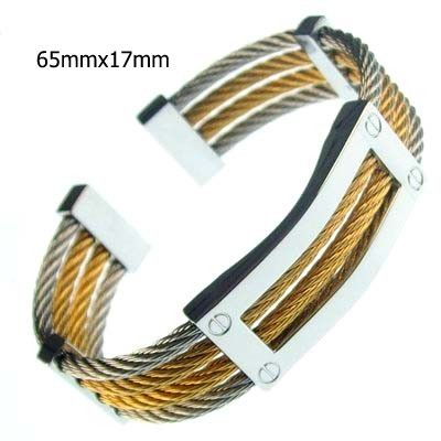 bangles stainless cable black jewelry women clasp fashion rose gold twisted product steel bracelet silver coffee open bangle
