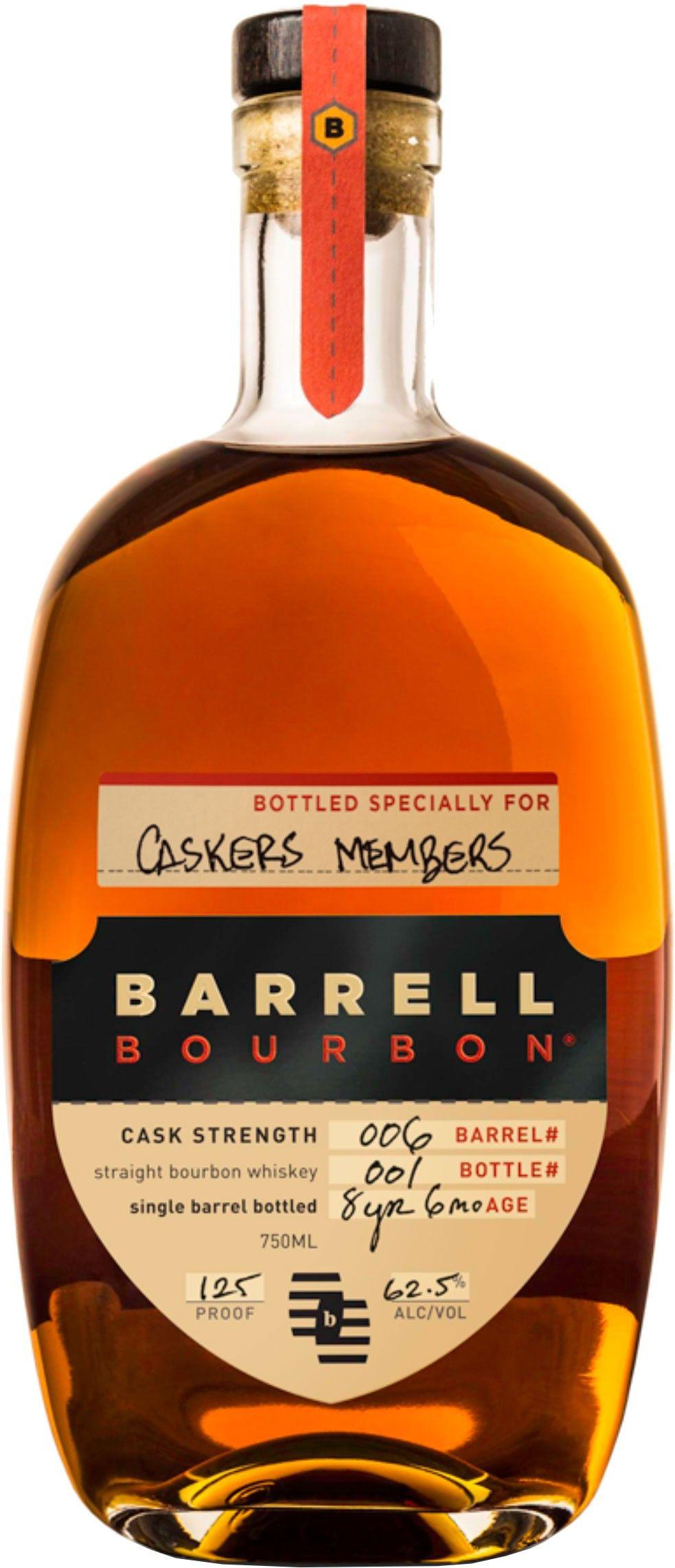 Barrell Cask Strength Single Barrel Straight Bourbon Whiskey Caskers Exclusive Bourbon Whiskey Whiskey Bourbon