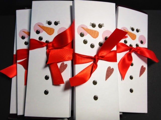 Snowman Hershey Bar Wrapper Card Making _Christmas Pinterest