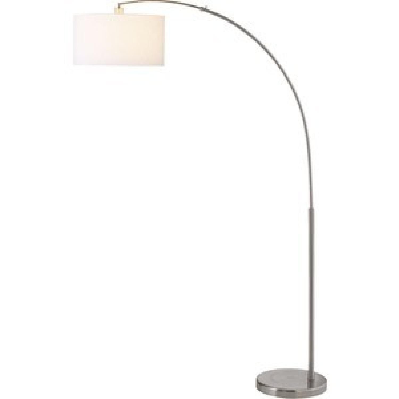 Cb2 Dipper Floor Lamp Nickel