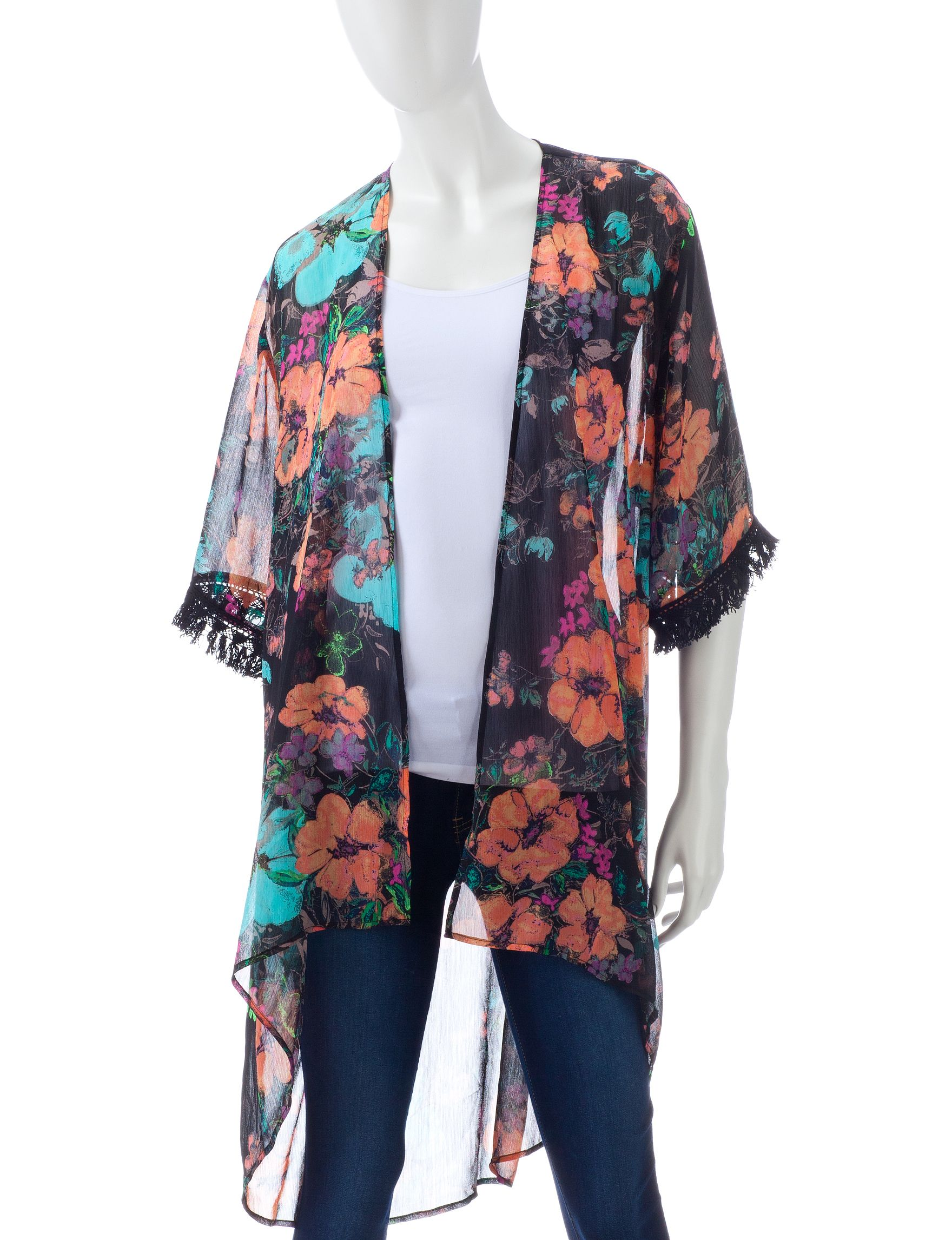 Shop today for Wishful Park Floral Fringe Kimono Top – Juniors  & deals on Blouses! Official site for Stage, Peebles, Goodys, Palais Royal & Bealls.
