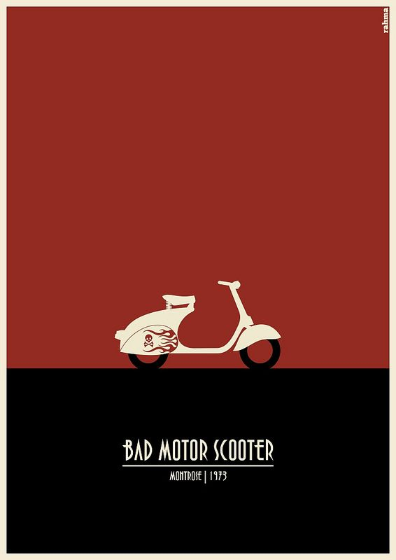 bad motor scooter poster vespa pinterest motor scooters scooters and vespa. Black Bedroom Furniture Sets. Home Design Ideas
