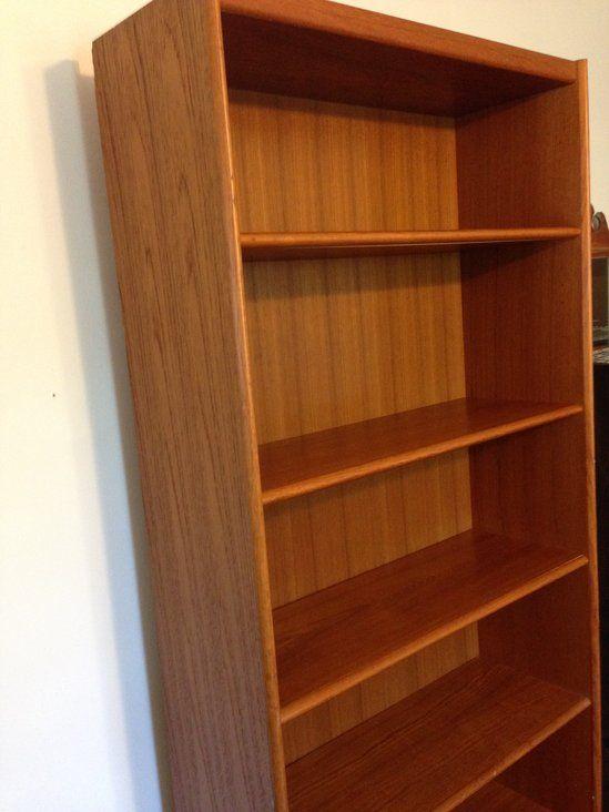 Danish Mod Scandinavian Teak Veneer Bookcase Tall