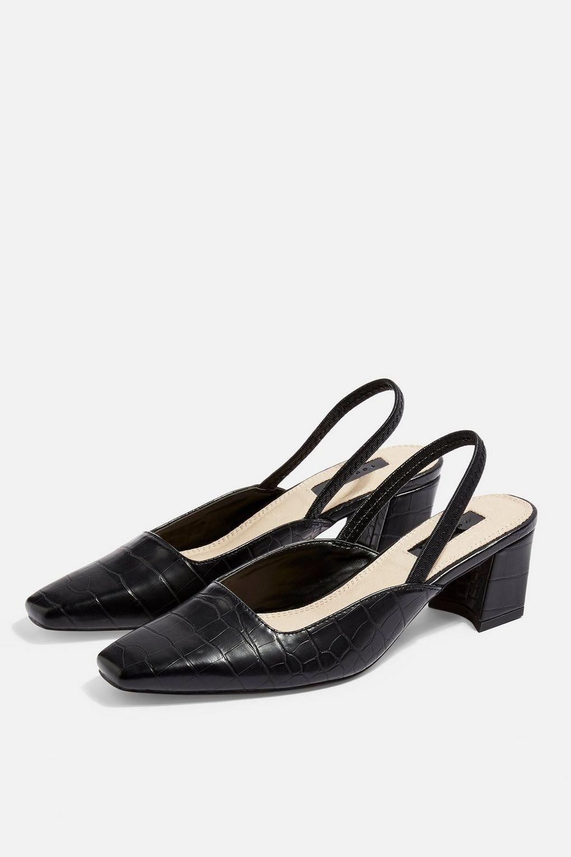 1ad5ad13acb JEWELER Crocodile Slingback Heels - Shop All Shoes - Shoes - Topshop Europe