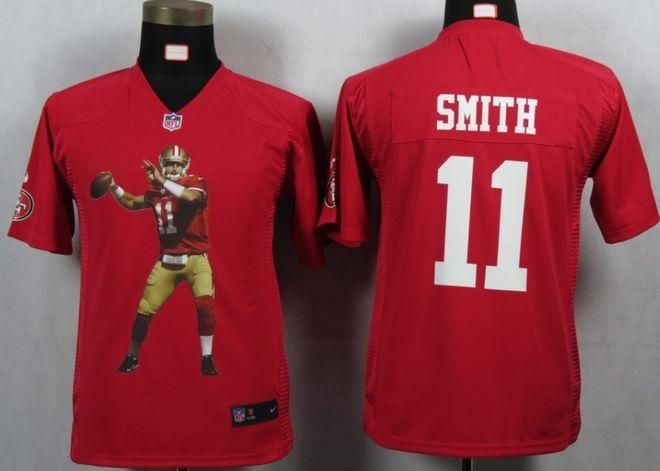 Nike 49ers  11 Alex Smith Red Team Color Youth Portrait Fashion NFL Game  Jersey! 453385370