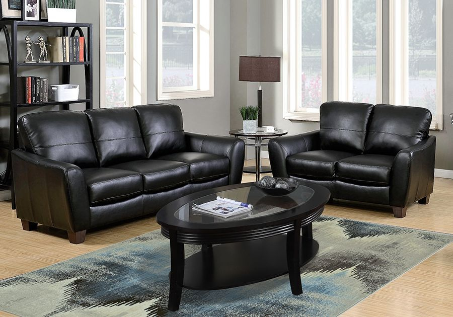 Sawyer Black 3 PC Living Room   Badcock Home Furniture U0026 More Of South  Florida