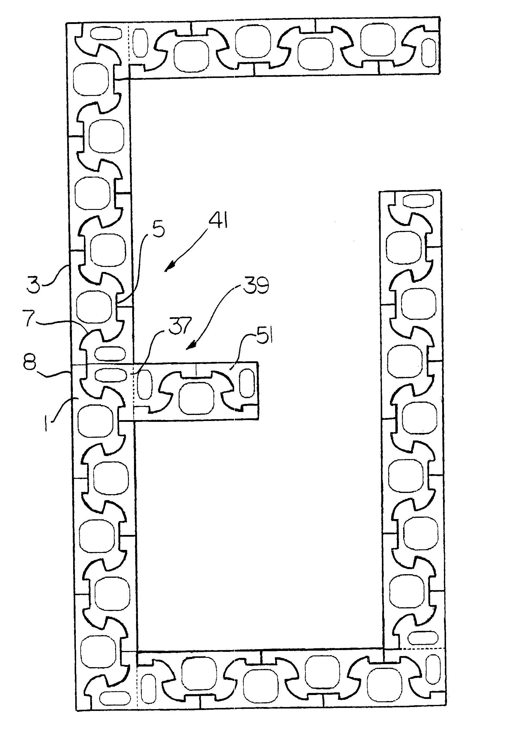 Us6508041b1 Interlocking Concrete Block Concrete Blocks Concrete Block Walls Interlocking Bricks