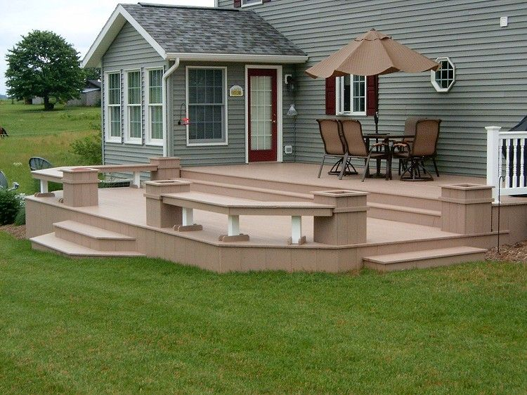 Planter Benches Vinyl Fencing And Decks Kauffman Lawn