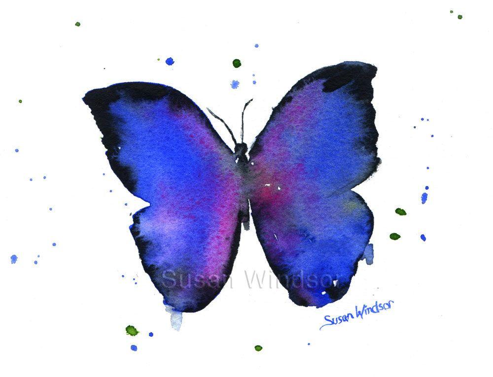 Easy Watercolor Paintings Of Butterflies Blue Butterfly Waterco...