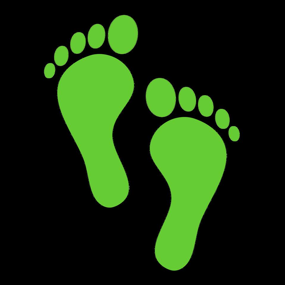 Footprints Free Stock Photo Illustration Of Green Footprints 14962 Green Footprints Baby Clip Art Footprint Images