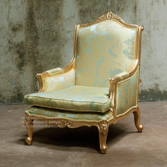 Buy Vintage Furniture: Buy Louis XV Sofa 1 Seater Gold Leaf