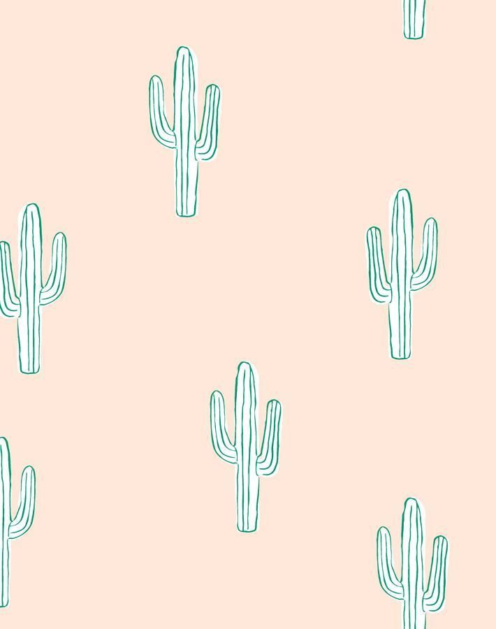 Cactus by Tea Collection - Peach - Removable Panel