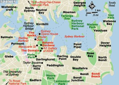 Sydney city map Australia Pinterest Sydney Transportation and