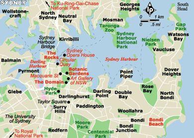 Sydney city map Australia Pinterest Sydney Transportation and