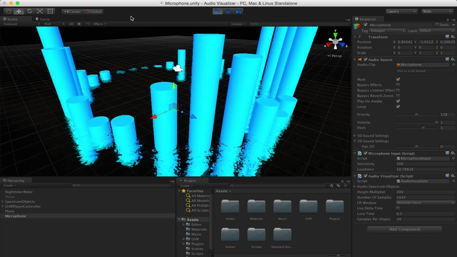 Audio Visualizer in Unity3D | VJ-Unity | Audio, Desktop