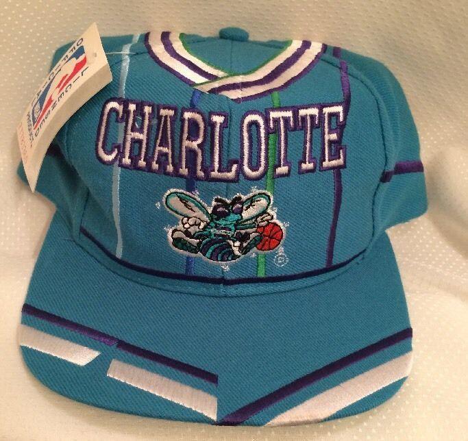 e2737bc782b Vintage L.E.I Snapback Hat NBA Charlotte Hornets Basketball Jersey Cap Wool  Tag  LEI  CharlotteHornets