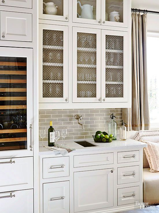 Kitchen Cabinet Details that Wow | Work triangle, Wet bars and Beverage