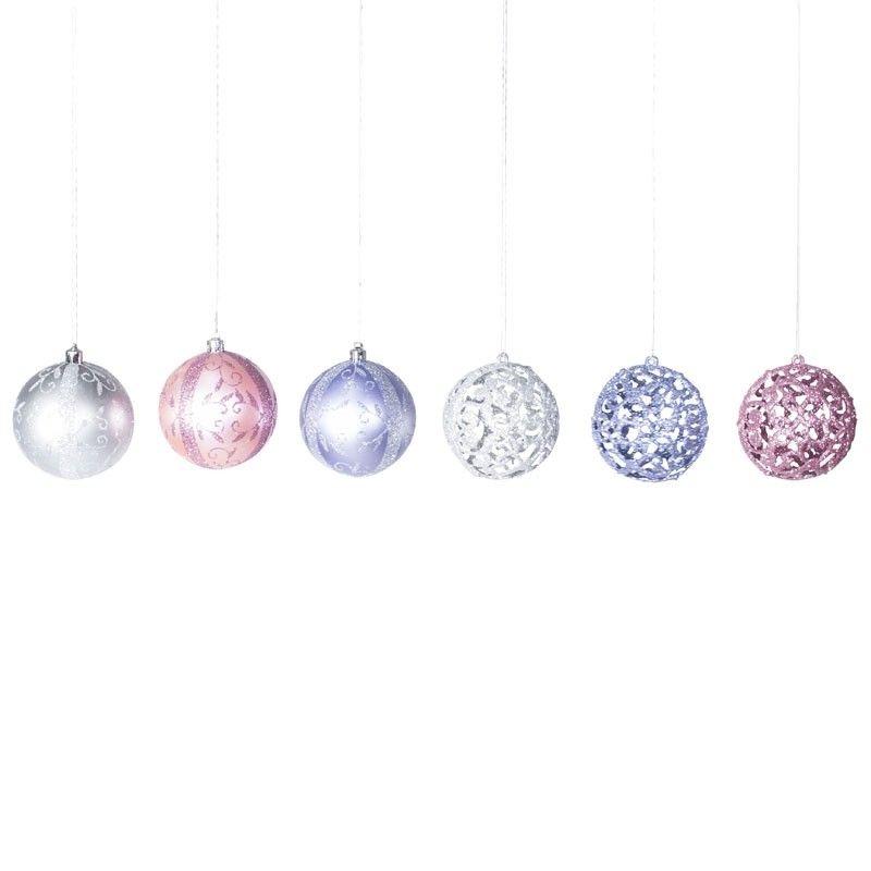 Ball Ornaments Ball Ornaments Ornament Set Pastel Colour Palette