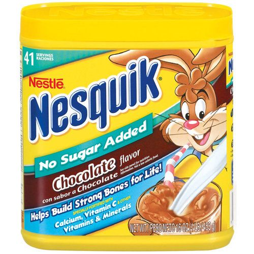 Nesquik chocolate milk with no sugar added food i love nestle nesquik chocolate no sugar added powder flavored milk additive 16 oz sciox Choice Image