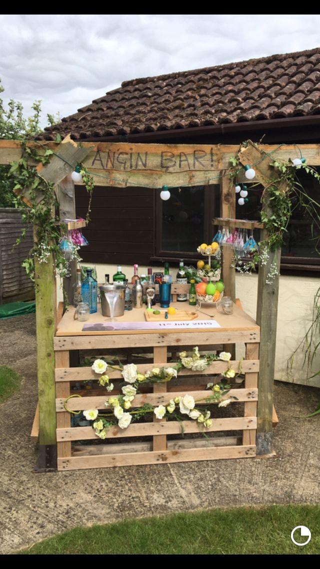 Home Made Gin Bar With Images Gin Bar Garden Bar Bar Made