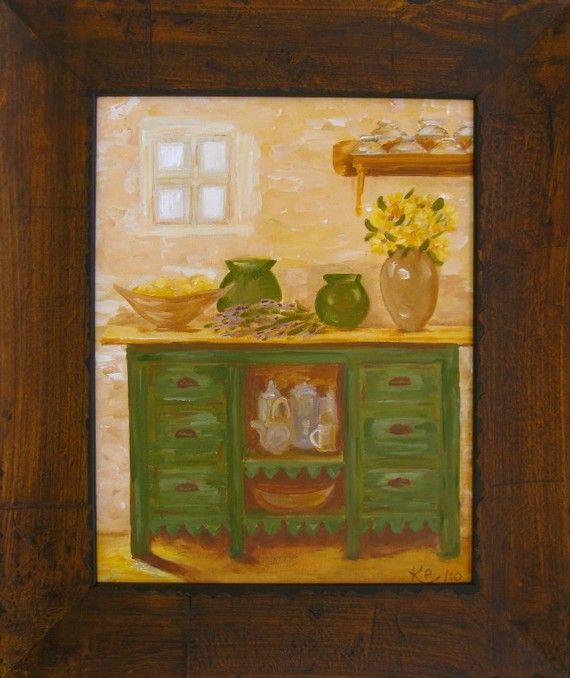 Farmhouse Kitchen by Kim Peterson on ETSY 16x13 $65 Art I Love