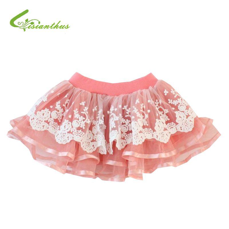 Cheap Niñas moda de encaje faldas niños princesa balón vestido de ...