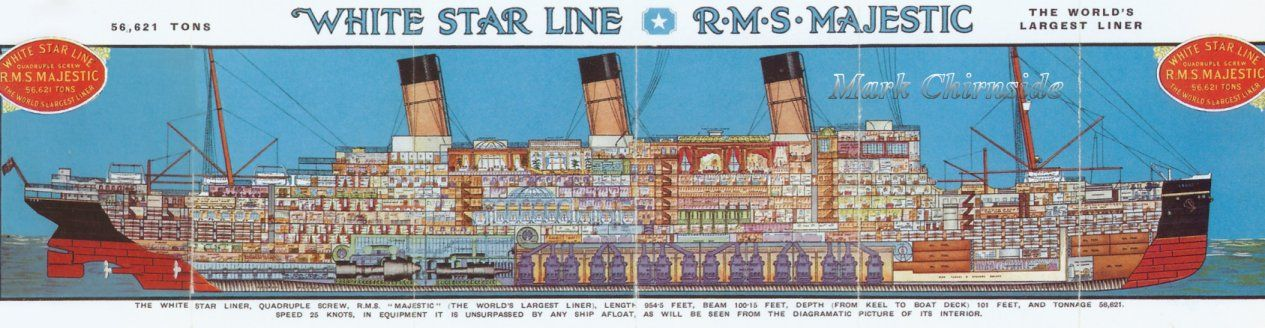 Rms Majestic Formerly The Ss Bismarck Sister Ship To