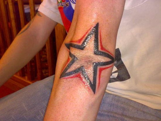 Star Tattoo On Elbow Meaning Hair Pictures Elbow Tattoos Elbow Star Tattoo Star Tattoos Tattoos