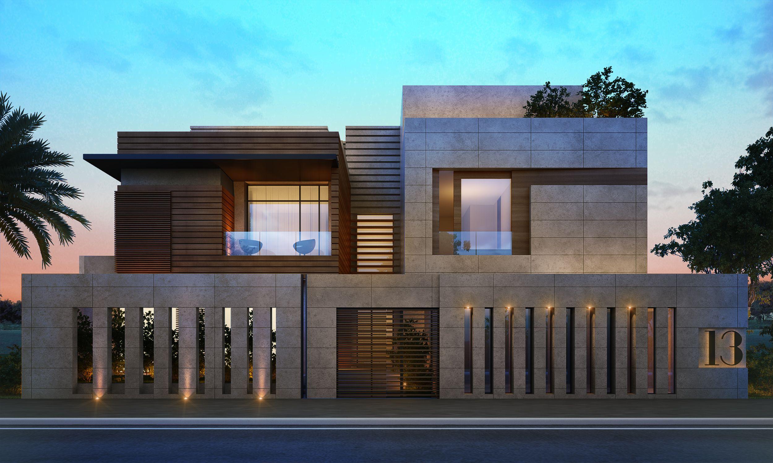 1000 m private villa aldahya kuwait sarah sadeq architects boundary walls modern villa design