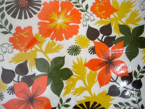 Place Mats Paper Retro Floral Contempo Paper Mats New by KimBuilt, $10.00