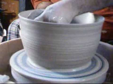 #8) Wheel Throwing a Large Bowl - YouTube